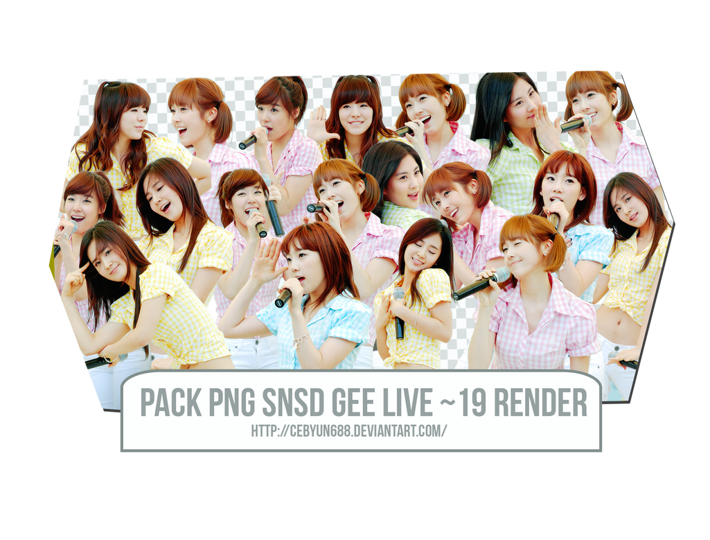 PACK PNG SNSD GEE LIVE ~ 19 RENDER by CeByun688