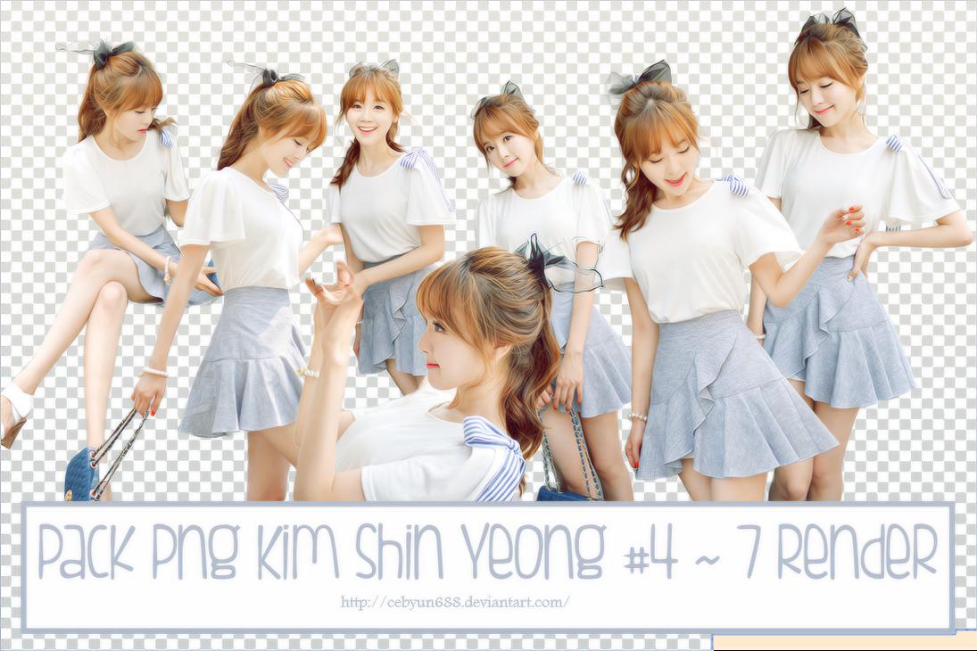 PACK PNG KIM SHIN YEONG #4 ~ 7 RENDER by CeByun688