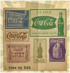 Retro Coca-Cola poster photoshop brushes #6