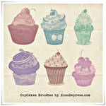 CupCakes High Res shabby chick PS brushes