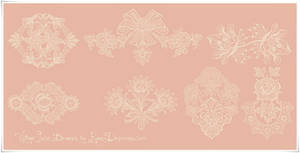 Vintage Lace Ornament High Res PS Brushes