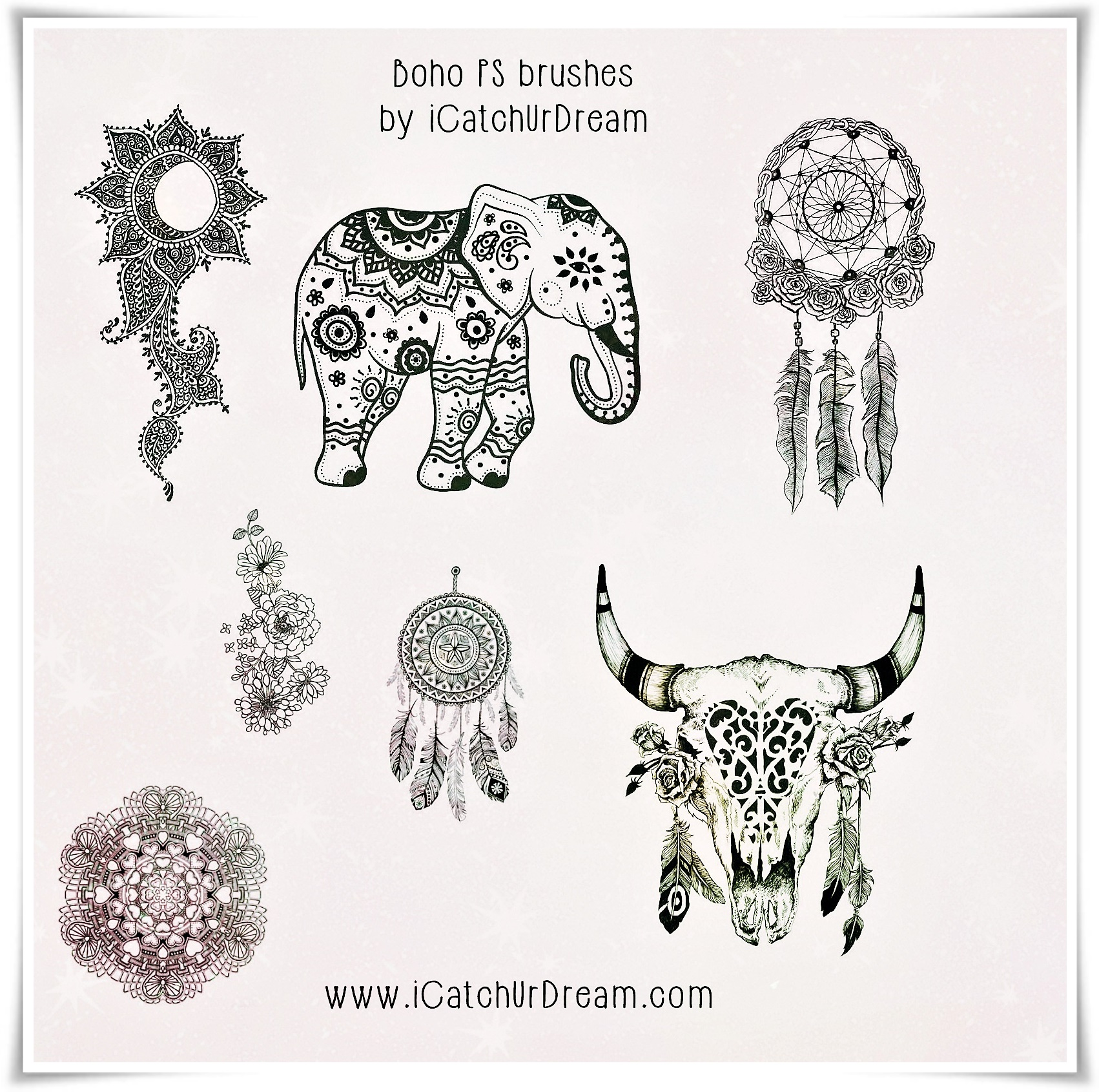 BoHo Style High Res. PS Brushes By ICatchUrDream On DeviantArt