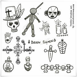 Voodoo symbols PS brushes
