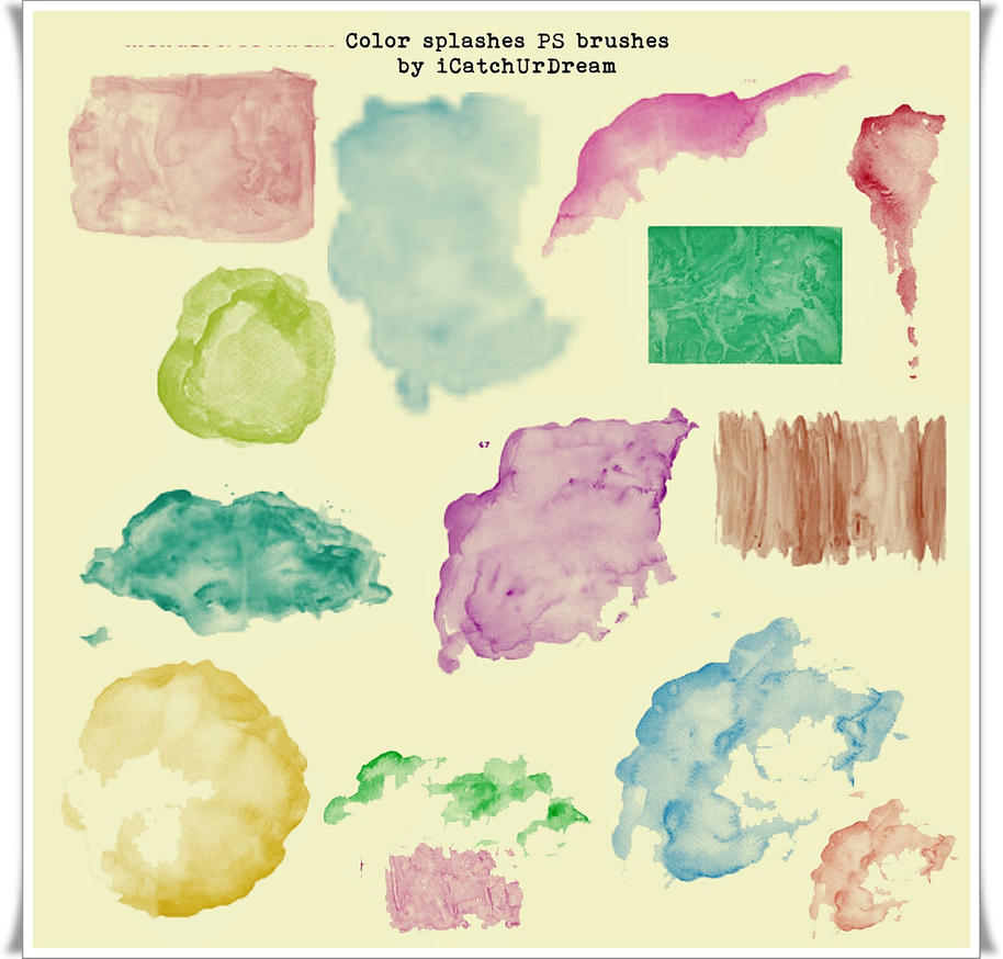 Color splashes PS brushes by iCatchUrDream