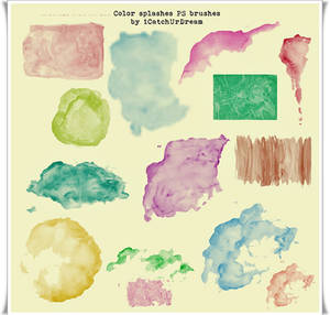 Color splashes PS brushes