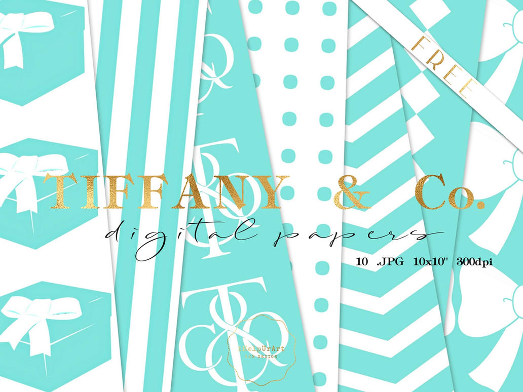 FREE - Tiffany inspired papers pack by iCatchUrDream