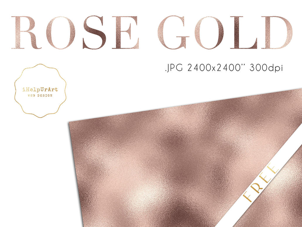 FREE - Rose Gold Metallic Texture by iCatchUrDream