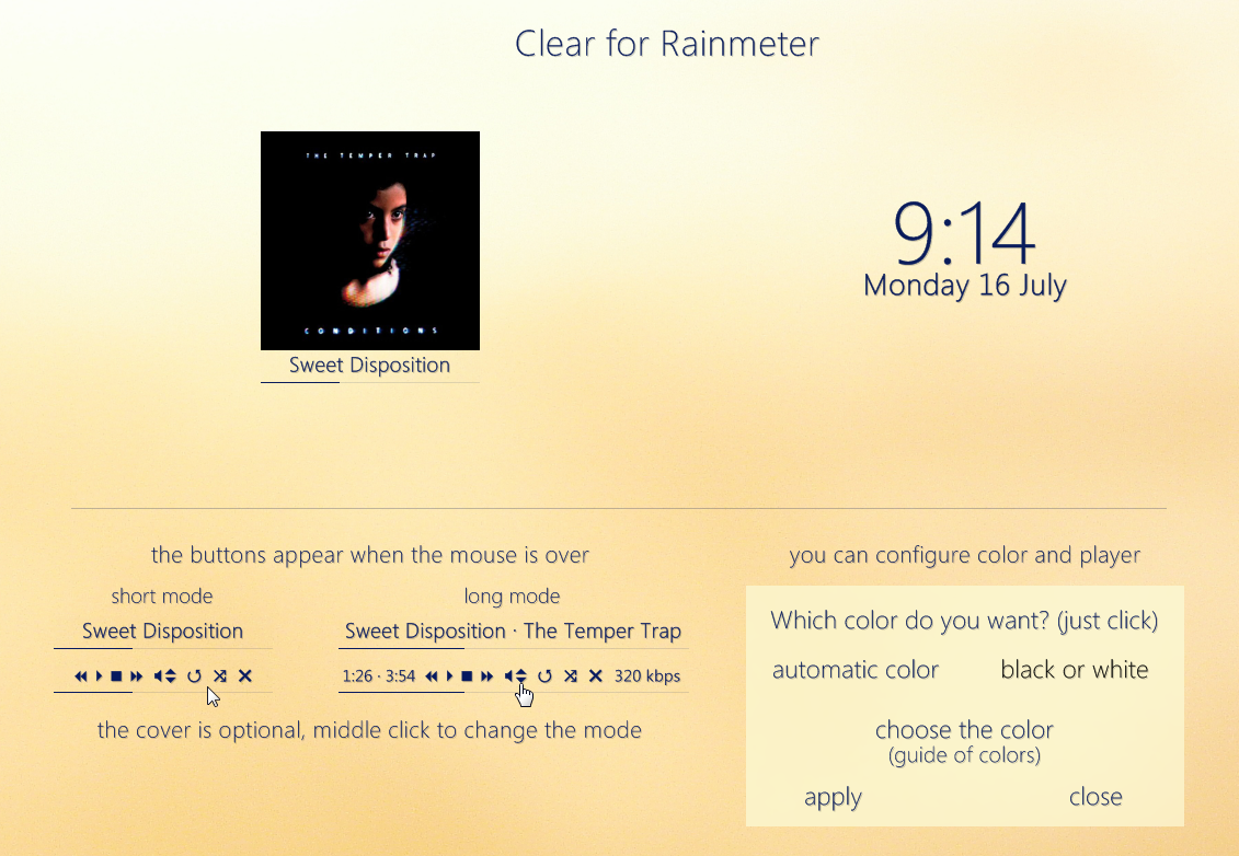 Clear for Rainmeter by ep3p