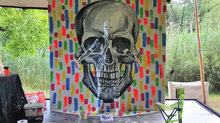 Live Art Festival  Flesh and Acrylic - Skull