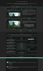 [1299] blogger template by Mrs Black by Ruda9