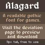 [Bitmap font] - Alagard