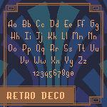 [Bitmap Font] Retro Deco