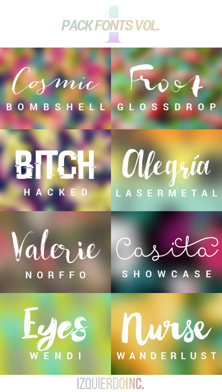Pack Fonts Vol. 04 by xPEGASVS