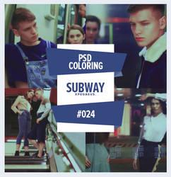 PSD #024 - SUBWAY by xPEGASVS