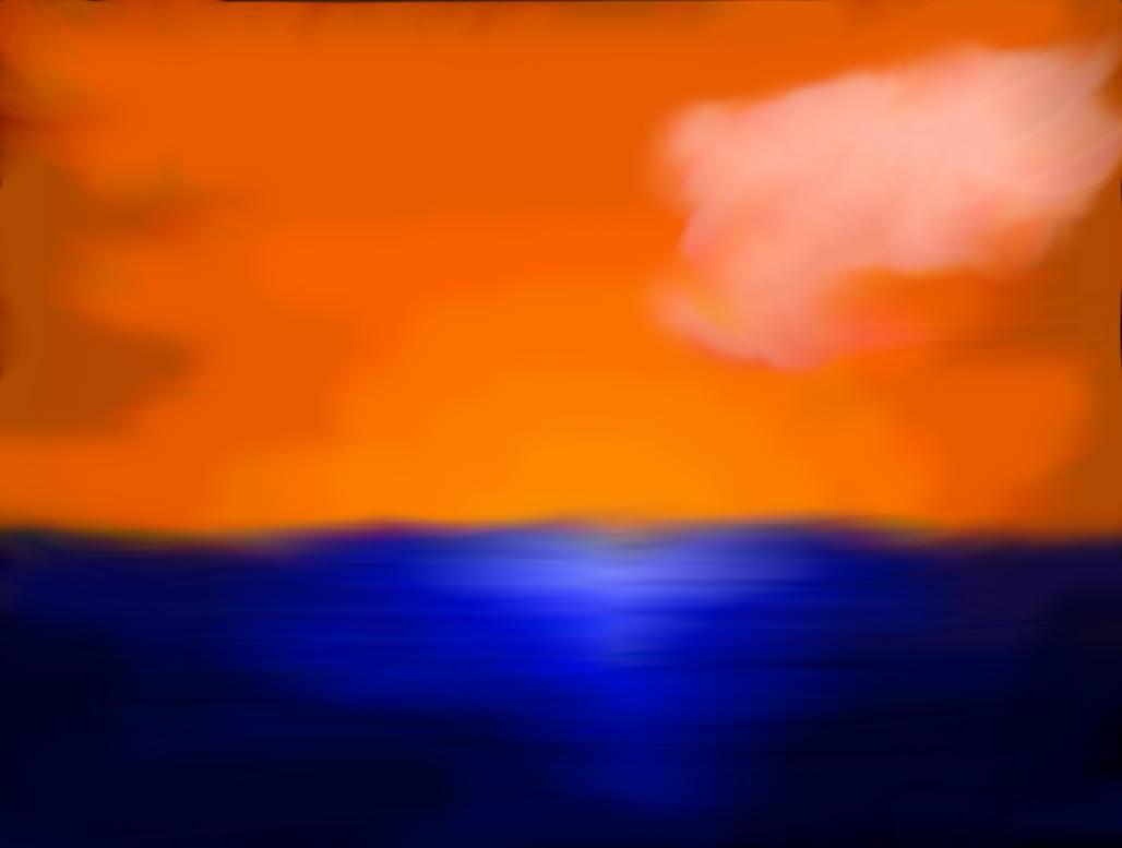 Water Sunset by FluffyAlbinoBacon