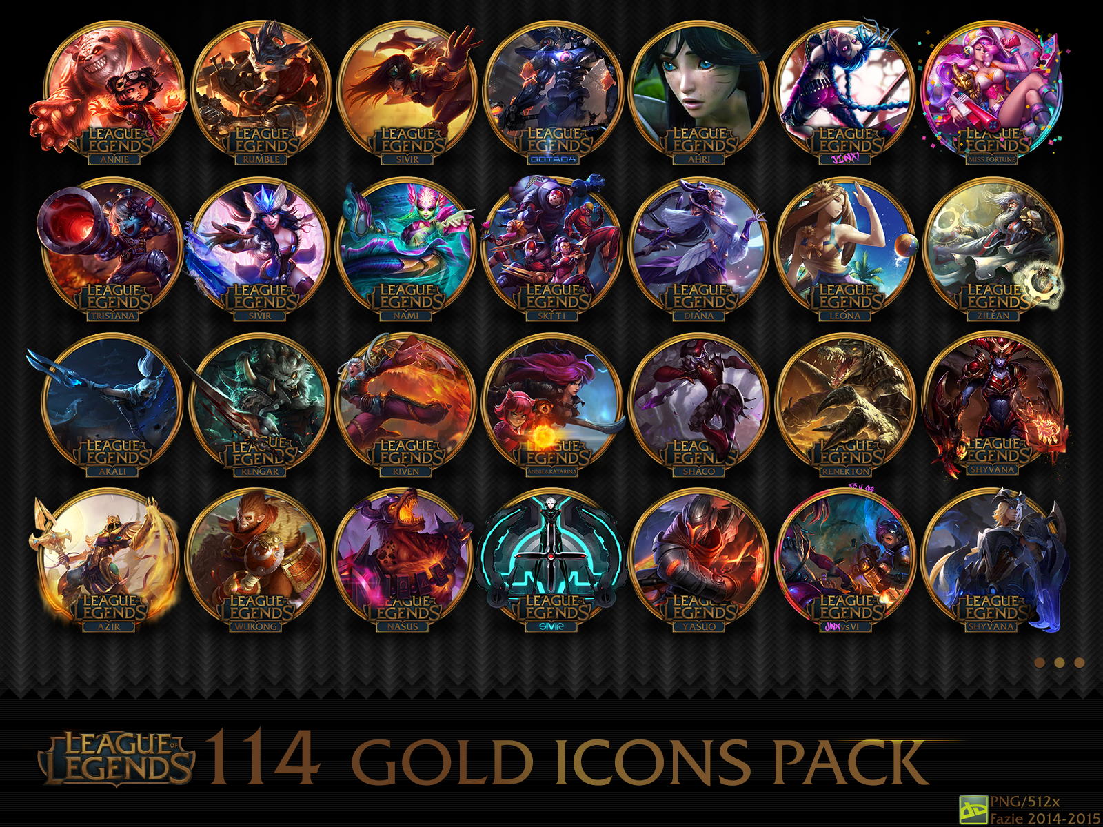 114 league of legends gold icons pack by fazie69 on deviantart