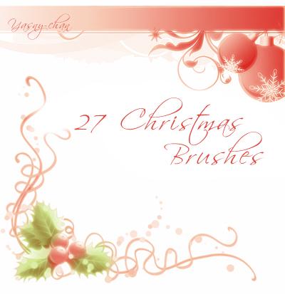Yasny: Christmas Brush Set 2