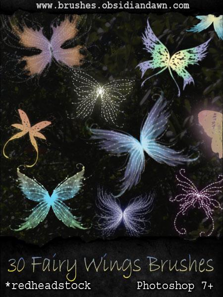 Fairy Wings Brushes by Kowaresou