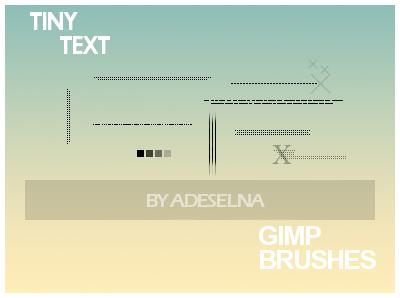 Tiny text brushes by Kowaresou