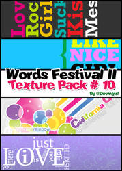Words Festival II Pack10 by downgirl