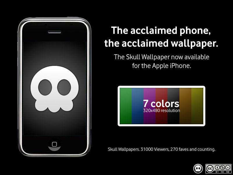 iPhone Skull Wallpaper by LordZoltan