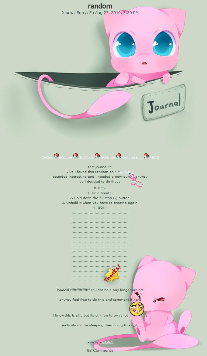 Mew journal skin by WikiME