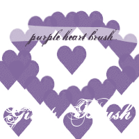 Purple Heart - Gimp Brush by RavenSymoneForever