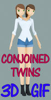Conjoined Twins 3D - (two headed girl) TEXTURED by fgg22