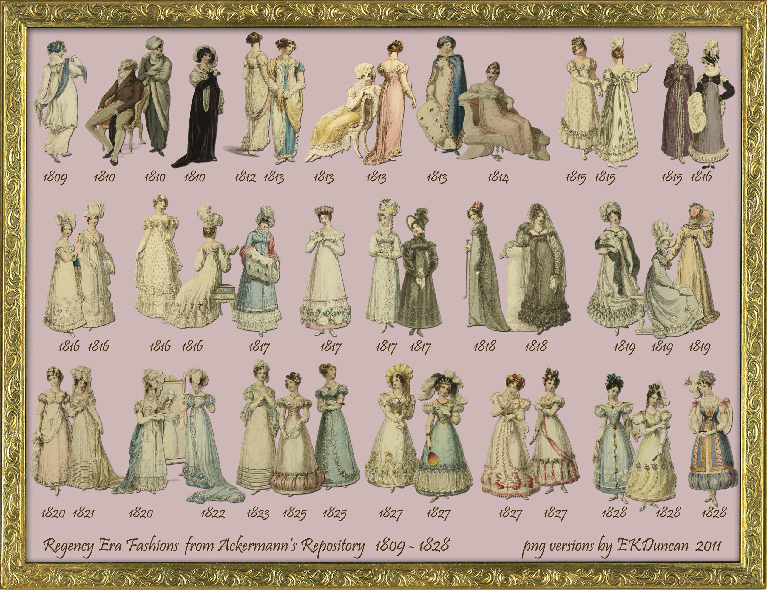 41 Regency Fashion 1809-1828 png by EKDuncan by EveyD