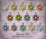 15 Variations of Dresden Badge Ornament - Style 8