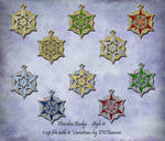 11 Variations of Dresden Badge Ornament - Style 11