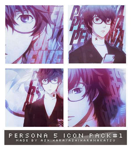 PERSONA 5 (MC) ICON PACK #1 by Ashihara by AshiharaNakatsu