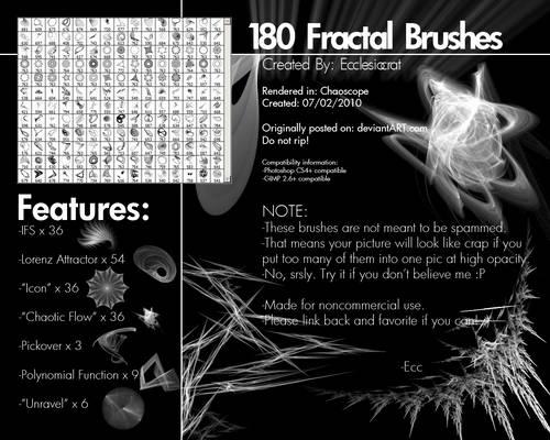 180 Fractal Brushes Set