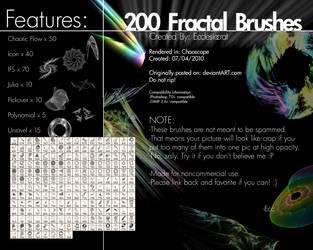 200 Fractal Brushes Set