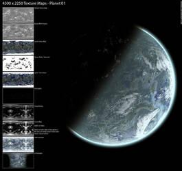 Planet texture maps 01