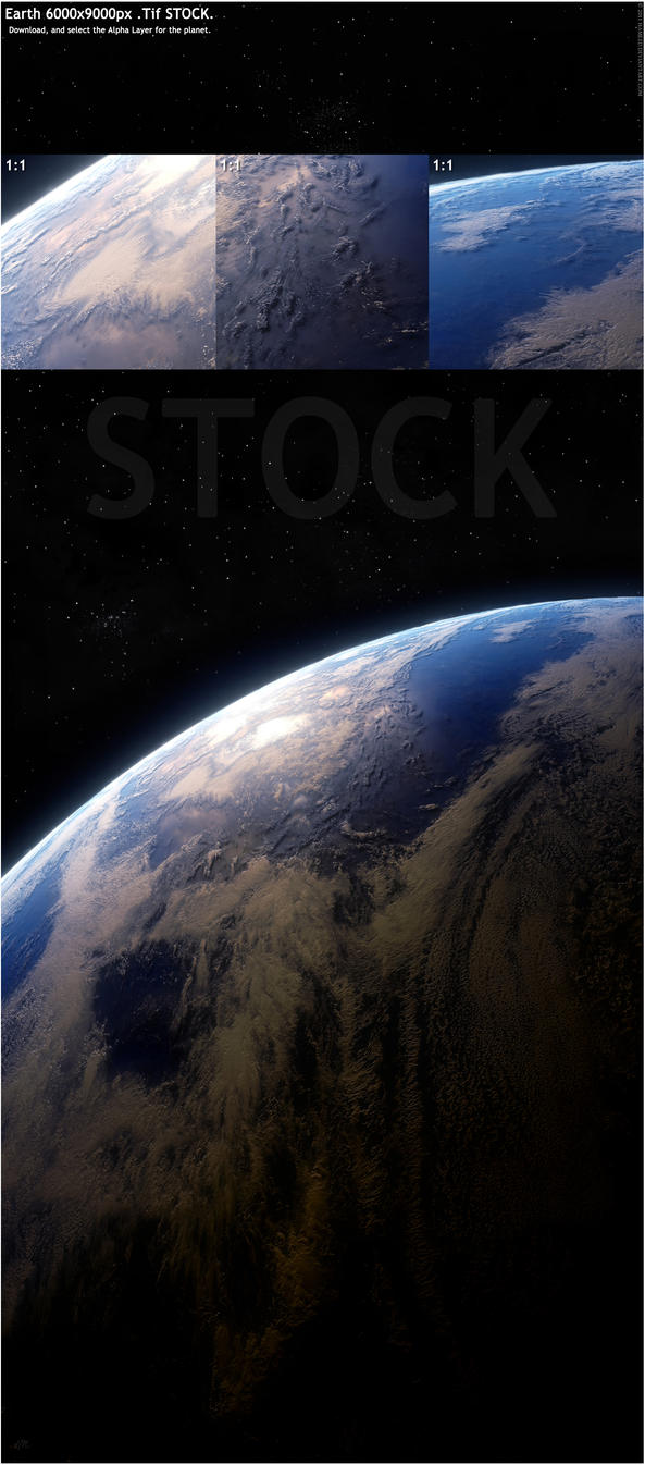 Earth 6000x9000px Stock by Hameed