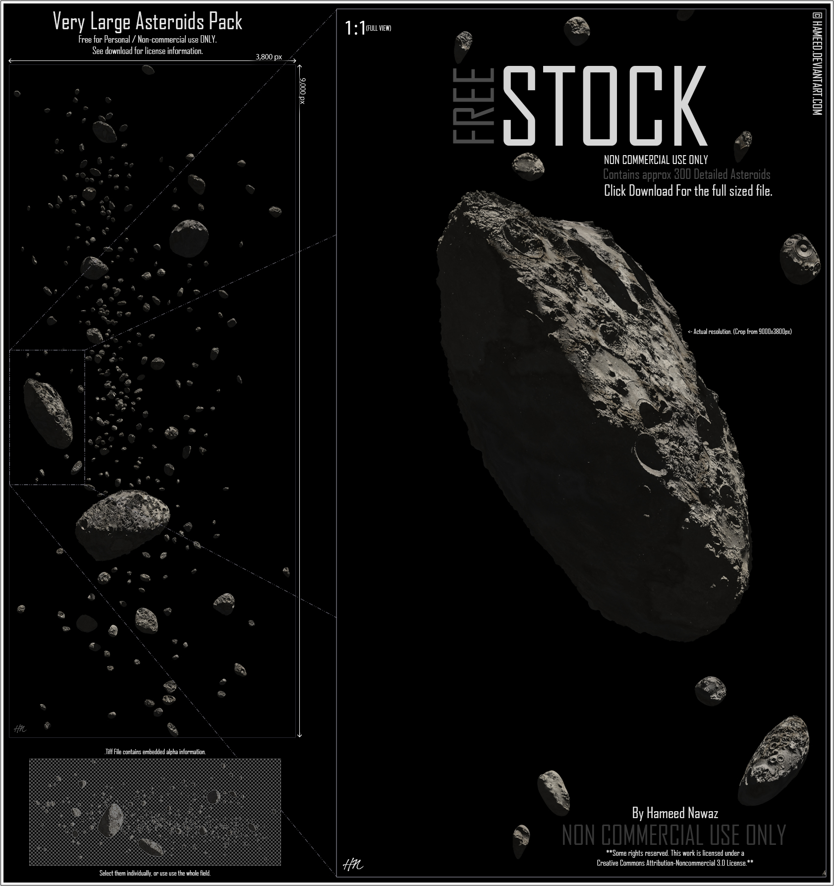 Very Large Asteroids Pack