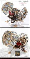Time Machine 3D Model for 3DsMAX2012/MentalRAY
