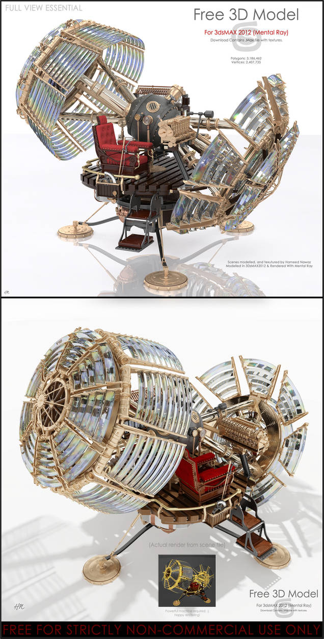 Time Machine 3D Model for 3DsMAX2012/MentalRAY