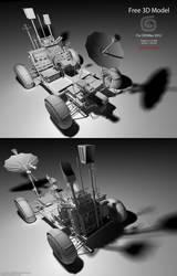 Downloadable Lunar Rover 3D Model (Untextured)
