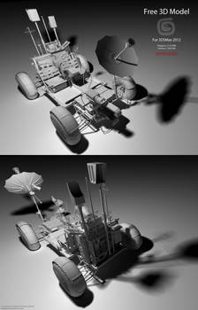 Downloadable Lunar Rover 3D Model (Untextured)