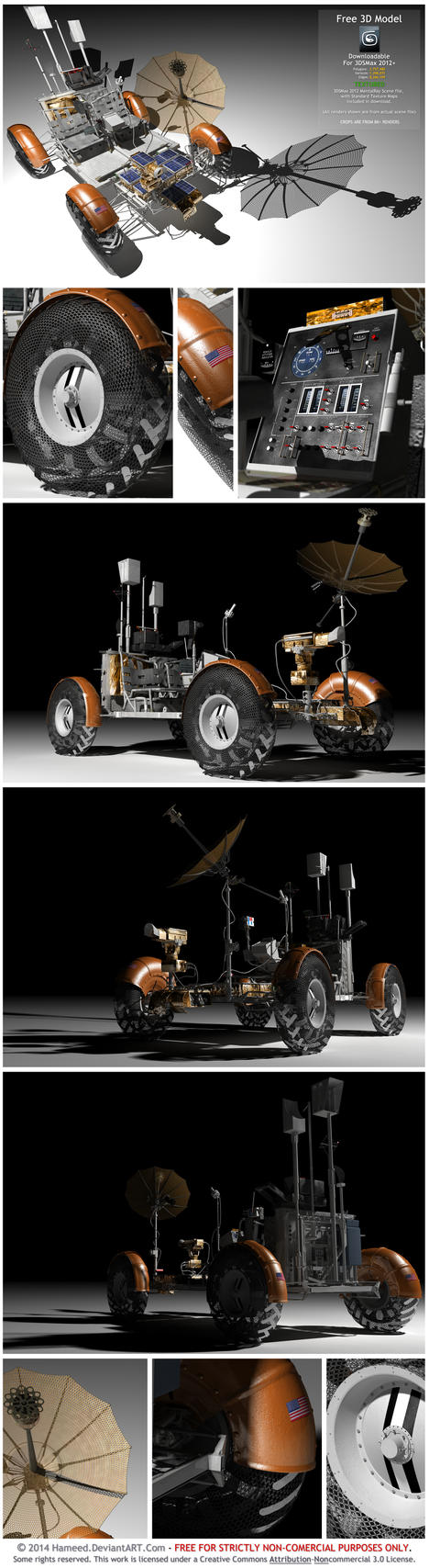 Lunar Rover - Downloadable 3D Model With Textures by Hameed