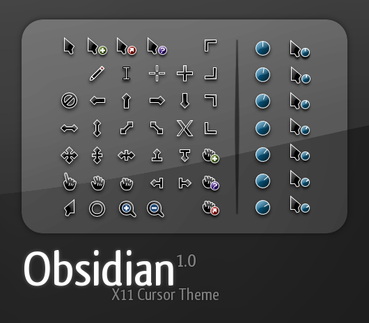 Obsidian Cursor set by teft