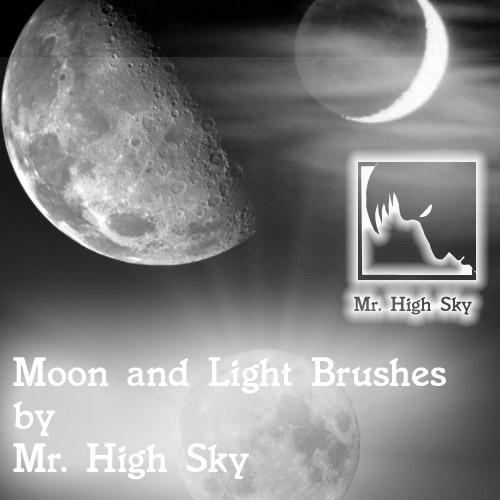 Moon and Light Brushes by MrHighsky
