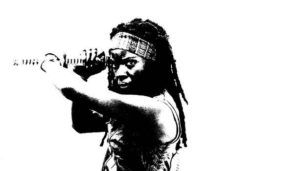 Michonne-The walking Dead by alvenon
