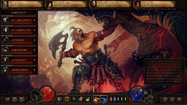Diablo III Rainmeter theme 1.1.1