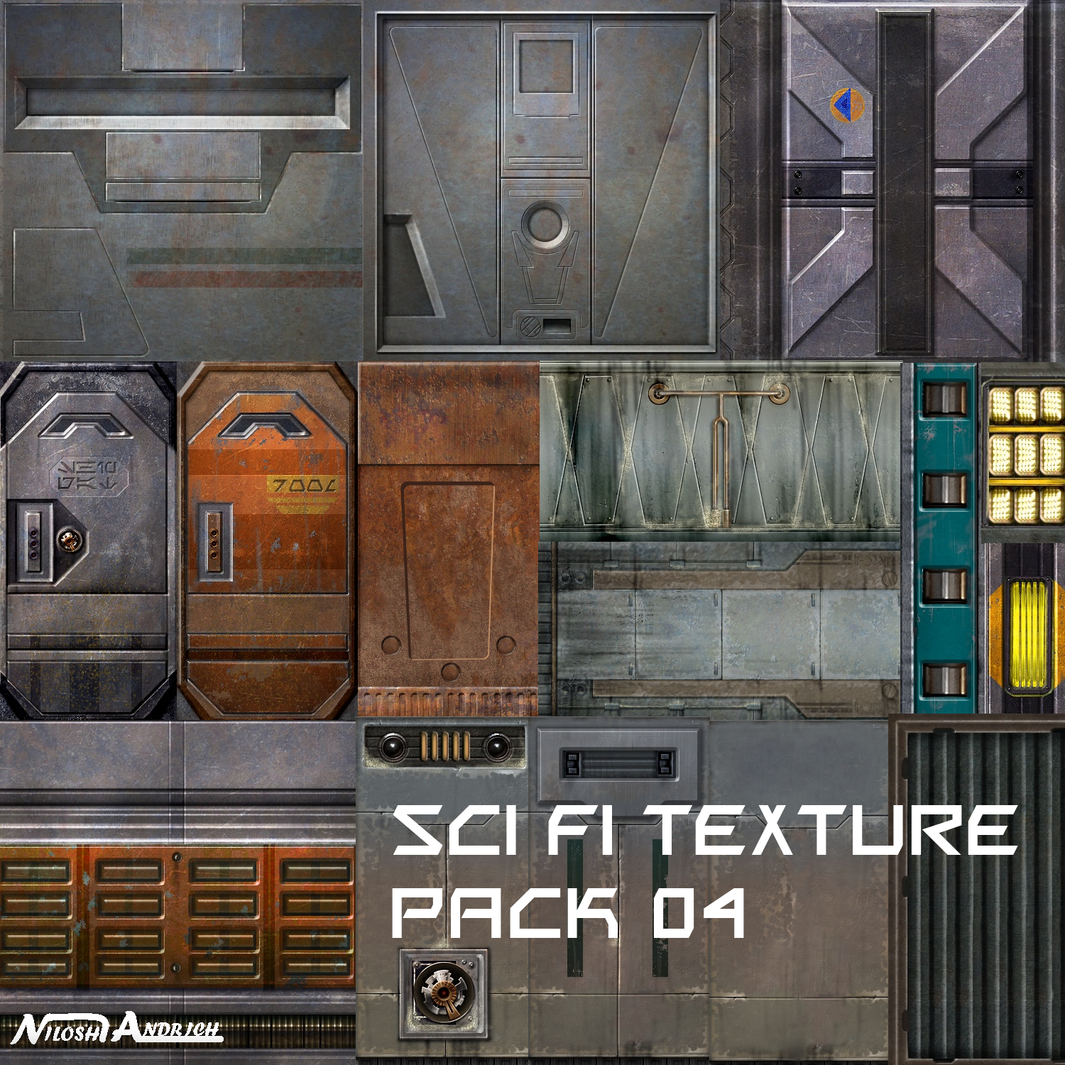 Sci fi Texure pack 04 by Milosh--Andrich