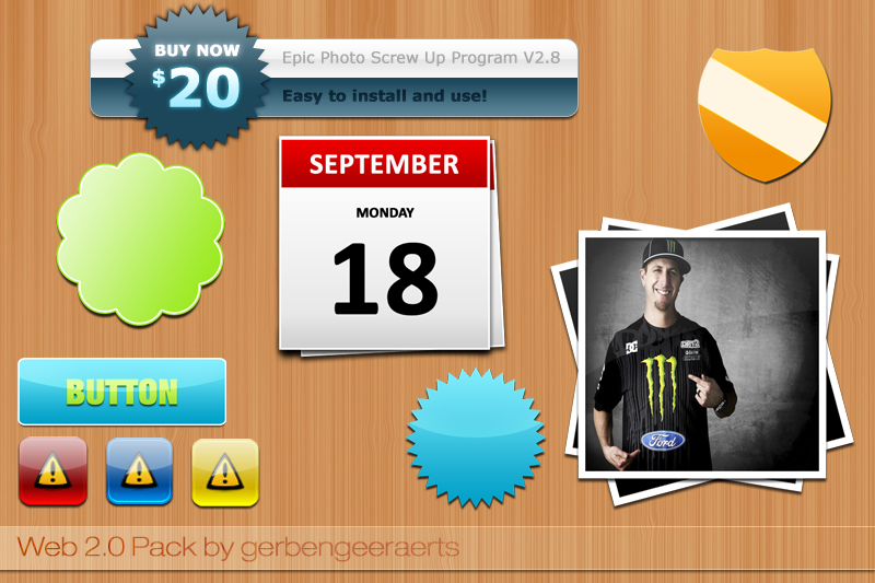 Calendar PSD Web Element UI Design