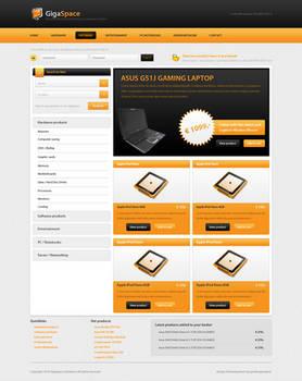 GigaSpace Free PSD Webshop