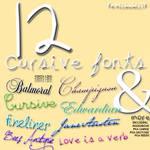 12 Cursive Fonts
